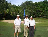 L to R: PP Andre, DGN Edward & PP Sinsoon on the 18th green