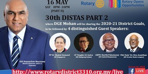Part 2 - 30th Rotary International District 3310 Training Assembly (16May, 8pm)
